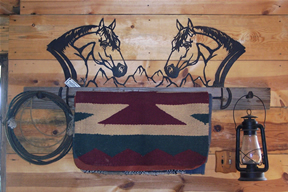 Horse Head Tack Rack